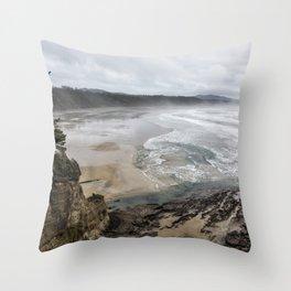 Lookout Point near Otter Rock Throw Pillow