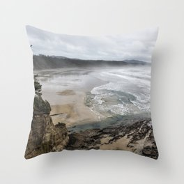Lookout Point near Otter Rock Throw Pillow