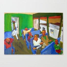 En el tren. Canvas Print