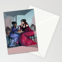 Nina and Inej in Ketterdam Stationery Cards