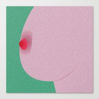 boob Canvas Prints featuring Boob Time  by Black Monkey
