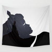 sleeping beauty Wall Tapestries featuring Sleeping Beauty by Rowan Stocks-Moore