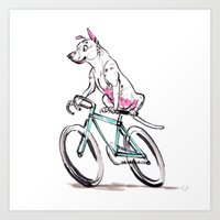 Mookie Rides the Pelotonia Art Print