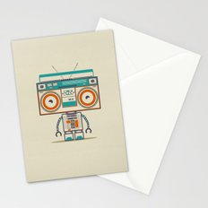 Music robot Stationery Cards