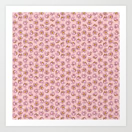 Botanken's Pattern Dream: Pink. Art Print