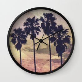 Heart and Palms Wall Clock