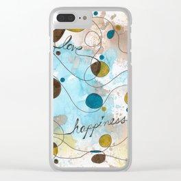 Flourish: Faith. Love. Happiness. Clear iPhone Case