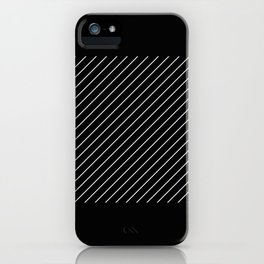 Minimalism - Black and white, geometric, abstract iPhone Case