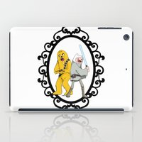 finn and jake iPad Cases featuring Jedi Finn & Wookie Jake by createASAP