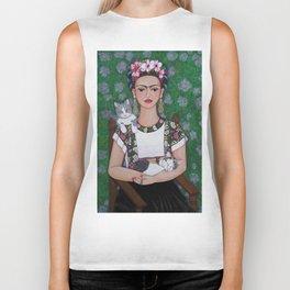 Frida cat lover Biker Tank