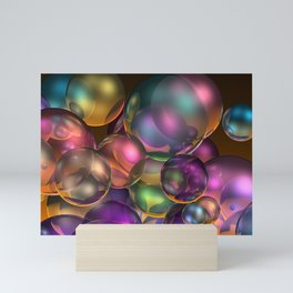 bubbles and bubbles Mini Art Print
