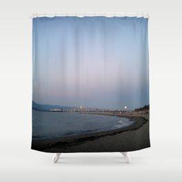 Fire Moon Shower Curtain