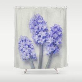 Bright Lilac Hyacinths Shower Curtain