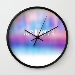 Live Inspired Wall Clock
