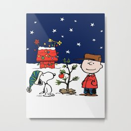 snoopy christmas Metal Print