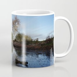 Cold Clear Morning At Chasewater Coffee Mug