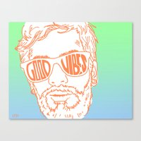 good vibes Canvas Prints featuring GOOD VIBES by YTRKMR