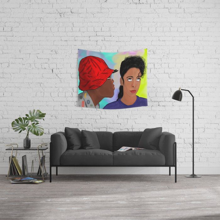 A Different World- Mr. Wayne and Ms. Gilbert Wall Tapestry