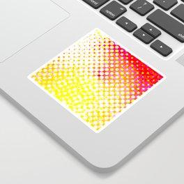 Yellow Pink Pattern Design Sticker