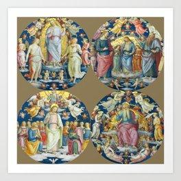 """Raffaello Sanzio da Urbino """"Ceiling Of The Stanza Dell Incendio Del Borgo"""" Art Print"""