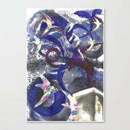 Swirling Swift Sky Canvas Print