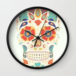 Day of the Dead Sugar Skull Candy Wall Clock