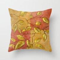 birch Throw Pillows featuring Birch by Edith Jackson-Designs