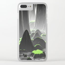 Foggy Canyon Walls Clear iPhone Case