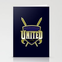 quidditch Stationery Cards featuring Quidditch Teams of the World: Puddlemere United by Rockabirdie