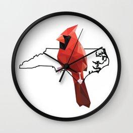 North Carolina – Northern Cardinal Wall Clock