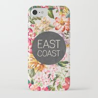 tupac iPhone & iPod Cases featuring East Coast by Text Guy