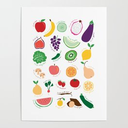 ABC Fruit and Vege Poster