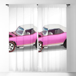 Hot Wheels Pink Party 427 SS Pony Car 67 Redline with white hardtop hood open Blackout Curtain