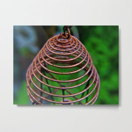 Spirals of Copper Metal Print