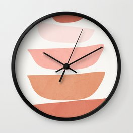 Abstract Minimal Shapes IV Wall Clock