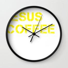 Jesus, Coffee & Republicans & 2020 Trump design Wall Clock