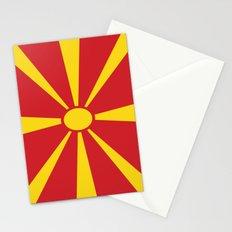 Flag of Macedonia - Macedonian,skopje,Bitola,Kumanovo,Prilep,Balkan,Alexander the great,Karagoz,red Stationery Cards