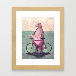 I'm Beary Lost Framed Art Print