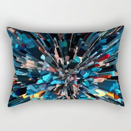 Three Dimensional Color Stacks Rectangular Pillow