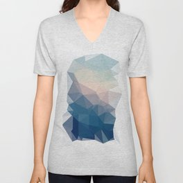 BE WITH ME - TRIANGLES ABSTRACT #PINK #BLUE #1 Unisex V-Neck