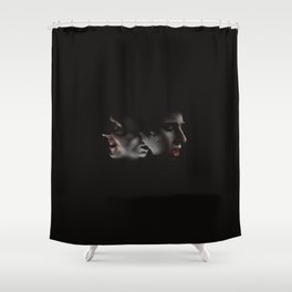 LAUGHING ON THE OUTSIDE Shower Curtain