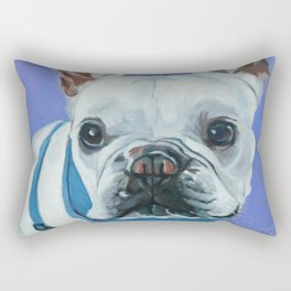 French Bulldog Portrait Painting Rectangular Pillow