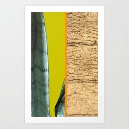 Gold Leaf Print Art Print