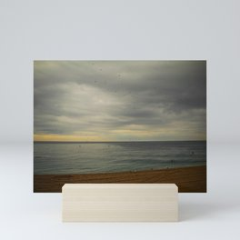 Barcelona beach Mini Art Print