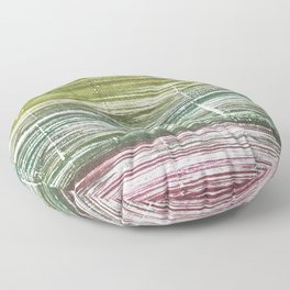 Moss green abstract watercolor Floor Pillow