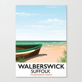 Walberswick Suffolk travel poster Canvas Print
