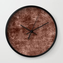 Cognac Oil Painting Color Accent Wall Clock
