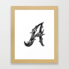Leaf Script A Framed Art Print