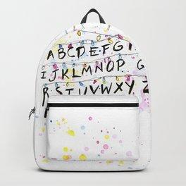 Alphabet Wall Christmas Lights Backpack