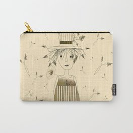 Betty Lou In Wheat Carry-All Pouch